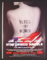 Magazine Ad for Iron Jawed Angels Movie, Hilary Swank, 2004