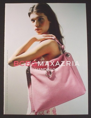 Magazine Ad for BCNG Maxazria Handbags, Large Pink Purse, Fashion, 2004