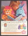 Magazine Ad for Hasbro Disney Wuzzles, Shows 6 Plushes, Joan Lunden Celebrity, 1985