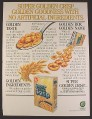 Magazine Ad for Post Sugar Golden Crisp Cereal, General Foods, 1985