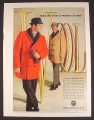 Magazine Ad for Wool Men's Dress Coats, Red & Tan, Zero King, 1963