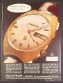 Magazine Ad for Bulova Accutron Watch, Day & Date, 1970