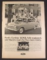 Magazine Ad for Ford Cortina Car, $1765, Students, 1966