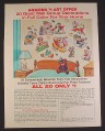 Magazine Ad for Giant Wall Group Decorations, Cartoon Characters, 1967