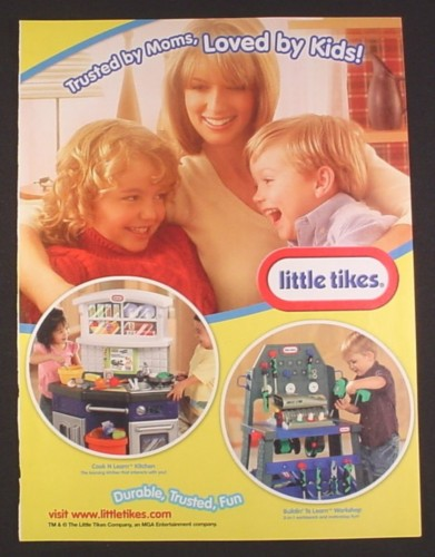 Magazine ad for little tikes cook n learn kitchen for Little tikes 2 in 1 buildin to learn motor workshop