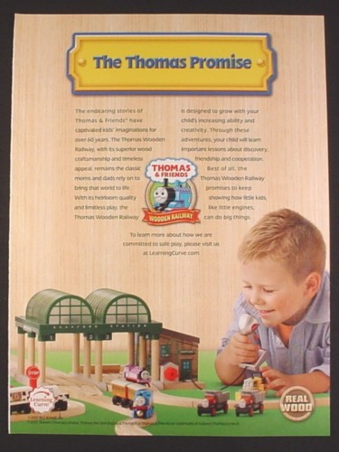 Magazine Ad for Thomas The tank Engine Train Track Set, Wooden Railway, Toys, 2007
