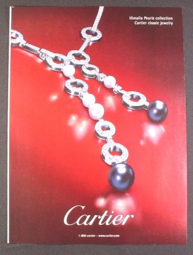 Magazine Ad for Cartier Himalia Pearls Collection, Jewelry, Fashion, 2007