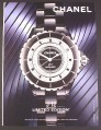 Magazine Ad for Chanel J12 Automatic Limited Edition Watch, 2007