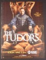 Magazine Ad for The Tudors TV Show, Showtime, Throne of Naked Bodies, 2009