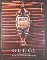 Magazine Ad for Gucci Signoria Collection Watch, Tiger's Eye Dial, 2007