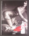 Magazine Ad for Silk Vodka, You Just Know When It's Silk, Sexy Woman in Silk Dress, 2007