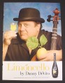 Magazine Ad for Limoncello by Danny Devito, Celebrity Endorsement, 2008