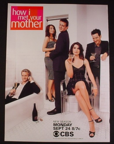 Magazine Ad for How I Met Your Mother TV Show, Neil Patrick Harris, Alyson Hannigan, 2007