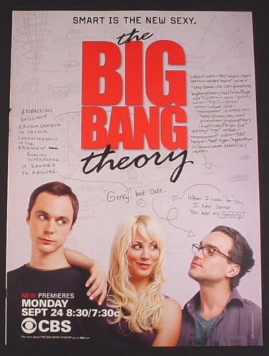 Magazine Ad for The Big Bang Theory TV Show, Smart Is The New Sexy, Celebrity, 2007