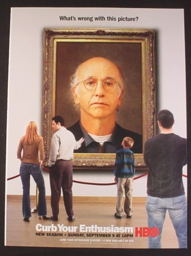 Magazine Ad for Curb Your Enthusiasm TV Show, HBO, Celebrity, 2007