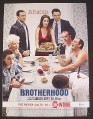 Magazine Ad for Brotherhood TV Show, Showtime, Annabeth Gish, Celebrity, 2007