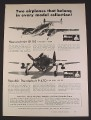 Magazine Ad for Monogram Messerschmitt Bf 110 & Republic Thunderbolt P-47D Models, 1968