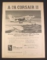 Magazine Ad for AMT A-7A Corsair II Model Airplane Kit, Toys, 1968