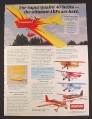 Magazine Ad for Kyosho Model Airplane Kits, 6 Models, Toys, 1997