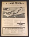 Magazine Ad for Monogram Mustang P-51B 1/48 Scale Model Kit PA136, Toys, 1967