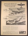 Magazine Ad for Monogram Mustang 1/48 & 1/72 Scale Model Kits PA143 PA136, Toys, 1967