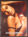 Magazine Ad for Dolce & Gabbana Parfum Perfume, Sexy Model, 2005