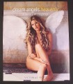 Magazine Ad for Victoria's Secret Dream Angels Heavenly Perfume, Fragrance, 2008