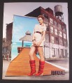 Magazine Ad for Steven By Steve Madden Red Boots Shoes, Fashion, 2008