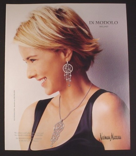 Magazine Ad for Di Modolo Jewelry, Unicef, Tea Leoni, Celebrity, 2008