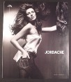 Magazine Ad for Jordache Jeans, Elizabeth Hurley with Horse, Celebrity, 2008