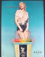 Magazine Ad for L.A.M.B. Fragrance Perfume, Gwen Stefanie in Wet Shirt, I Want You All Over Me