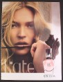 Magazine Ad for Kate Moss Fragrance Perfume, Rose, 2008