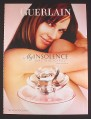 Magazine Ad for My Insolence Fragrance Perfume, Hilary Swank Celebrity Endorsement, 2008