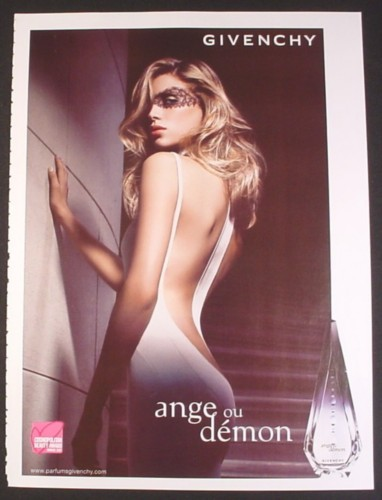 Magazine Ad for Ange Ou Demon Fragrance Perfume, Givenchy, Marie Galouzeau de Villepin