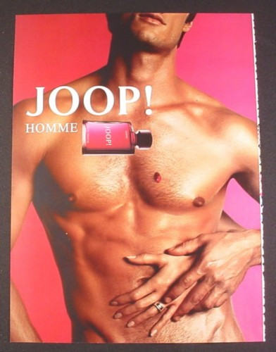 Magazine Ad for Joop Fragrance, Sexy Male Model, Beefcake, 2004