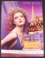 Magazine Ad for Love In Paris Fragrance Perfume, Nina Ricci, Eiffel Tower, 2004