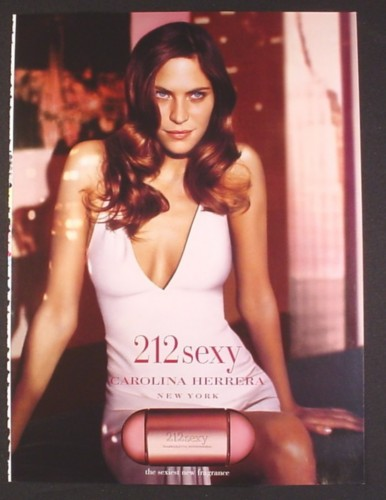 Magazine Ad for 212Sexy Fragrance Perfume, Carolina Herrera, 2004