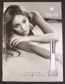 Magazine Ad for True Star Fragrance Perfume, Beyonce Celebrity Endorsement, 2004