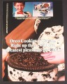 Magazine Ad for Oreo Cookies N Cream Ice Cream Treats, Greatest Pleasures On Earth, 1985