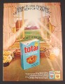 Magazine Ad for General Mills Total Cereal, Open Window Looking at Farm, 1972