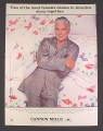 Magazine Ad for Cannon Mills, Dynasty TV Series Bedding Collection, John Forsythe, Celebrity, 1985