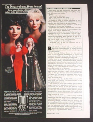 Magazine Ad for Dynasty TV Series Collection World Dolls, 1985