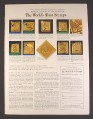 Magazine Ad for Gold On Silver Proofs of The World's First Stamps, Franklin Mint, 1979