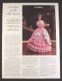 Magazine Ad for Lenox Caroline Of The Old South Porcelain Doll Figure, 1985