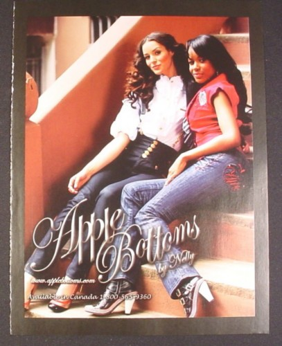 Magazine Ad for Apple Bottoms Jeans by Nelly, 2008