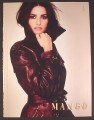 Magazine Ad for Mango Leather Coat, Penelope Cruz Celebrity Endorsement, 2008