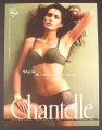 Magazine Ad for Chantelle Lingerie, Style & Tattooed Lace, 2006