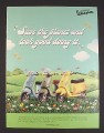 Magazine Ad for Enviro Vespa Scooters, 3 Colors, Save The Planet, 2008