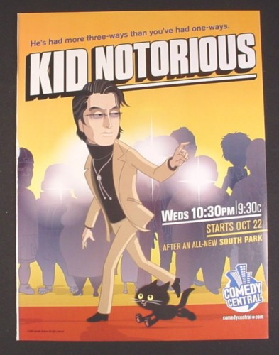 Magazine Ad for Kid Notorious TV Show, Comedy Central, 2003