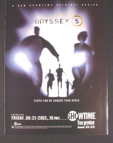 Magazine Ad for Odyssey 5, Showtime TV Show Premiere, Science Fiction, 2002